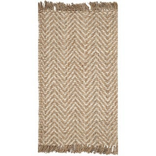 Safavieh Hand-woven Natural Fiber Bleach/ Natural Jute Rug (2'6 x 4')