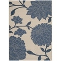 Safavieh Indoor/ Outdoor Courtyard Beige/ Blue Rug (2'7 x 5')