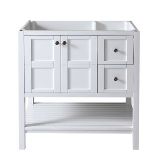 Virtu USA Winterfell 36-inch White Bathroom Cabinet