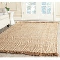 Safavieh Hand-woven Natural Fiber Bleach/ Natural Jute Rug (3' x 5')