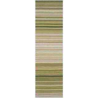 Safavieh Hand-woven Marbella Green Wool Rug (2'3 x 8')