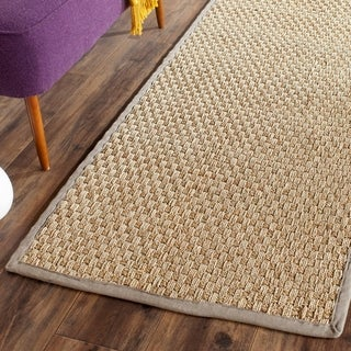 Safavieh Natural Fiber Natural/ Grey Seagrass Rug (2'6 x 8')