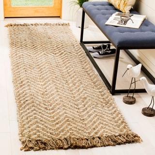 Safavieh Hand-woven Natural Fiber Bleach/ Natural Jute Rug (2'6 x 8')