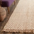 Safavieh Hand-woven Natural Fiber Bleach/ Natural Jute Rug (2'6 x 12')