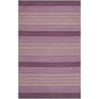 Safavieh Hand-woven Marbella Lilac Wool Rug (6' x 9')