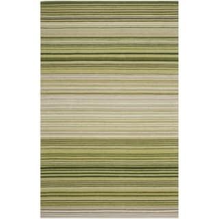 Safavieh Hand-woven Marbella Green Wool Rug (6' x 9')