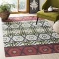 Safavieh Hand-loomed Cedar Brook Ivory Cotton Rug (7'3 x 9'3)