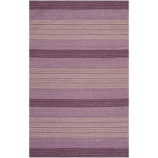 Safavieh Hand-woven Marbella Lilac Wool Rug (8' x 10')
