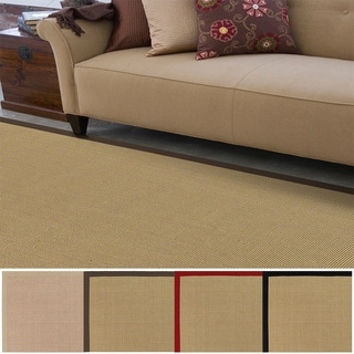 Hand-woven Contra Casual Bordered Area Rug (6' x 9')