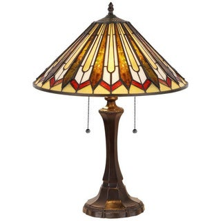 Tiffany Style Mission Design 2-light Table Lamp