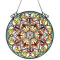 Tiffany Style Victorian Design Round Window Panel