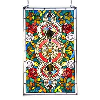 Tiffany Style Victorian Design Window Panel