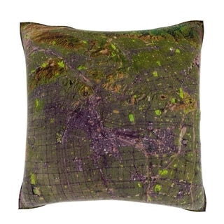 Los Angeles, California USA 18-inch Square Velour Throw Pillow