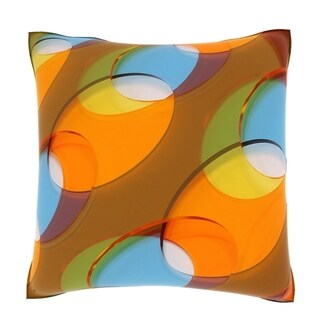 Abstract Dots 18-inch Square Velour Throw Pillow