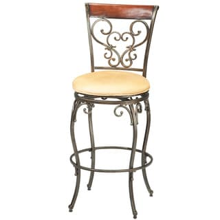 Knightsbridge Black/ Gold Finish Stool