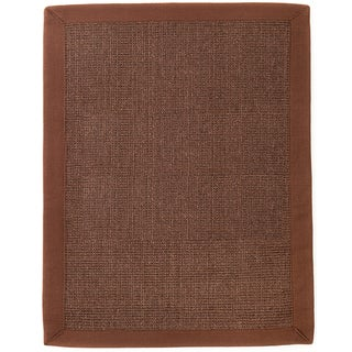 Bisi Dark Brown Sisal Area Rug (8' x 10')