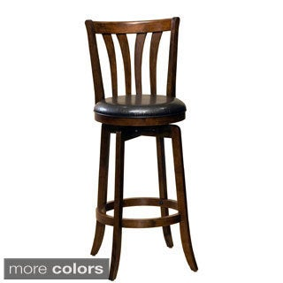 Savana Cherry/ Black Finish Swivel Stool