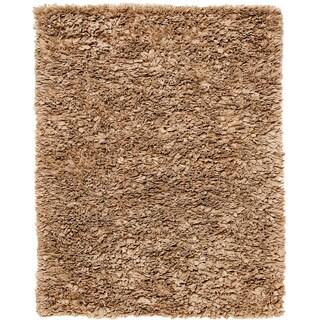 Lea Mocha Brown Paper Shag Area Rug (4' x 6')