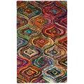 Hand-tufted Ante Multicolored Mod Geometric Recycled Cotton Rug (10' x 14')