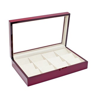 Caddy Bay Collection Glossy Rosewood Pocket Watch Box