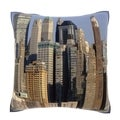New York City Building Exterior 18-inch Velour Throw Pillow
