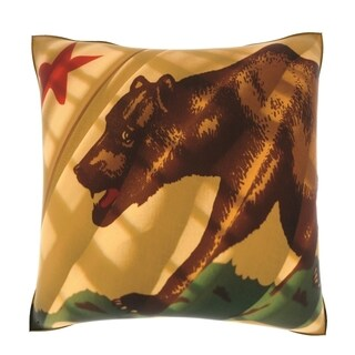 The Flag of California 18-inch Velour Throw Pillow