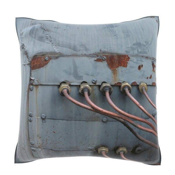 Weathered Metal Pipes 18-inch Velour Throw Pillow