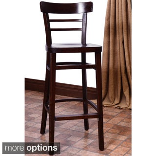 Economy Walnut Solid Beechwood Bar Stool