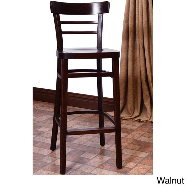 Economy Walnut Solid Beechwood Bar Stool