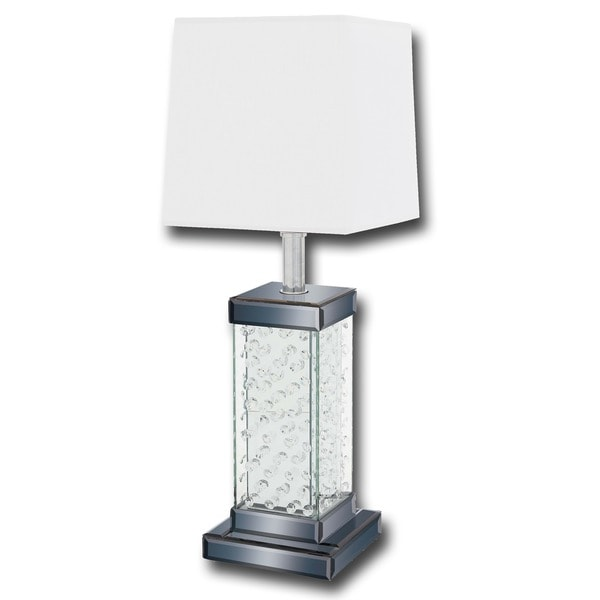 Casa Cortes 'Contemporary Loft' 30-inch Glass and Crystal Table Lamp