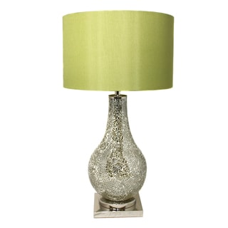 Casa Cortes Artisan-crafted Green Mosaic Table Lamp