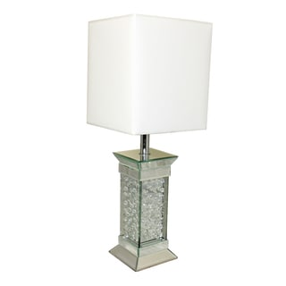 Casa Cortes 'Crystal Rain' 28-inch Glass Table Lamp