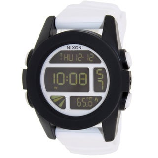 Nixon Men's 'Unit' Digital White Silicone Quartz Watch