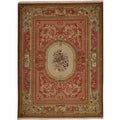 'Inspired Persian' Hand-knotted Wool and Silk Rug (8'6 x 11'6)