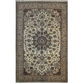 'Iran Nain' Hand-knotted Wool and Silk Persian Rug (4'3 x 6'7)