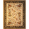 'China Persian' Hand-knotted Wool and Silk Pile Rug (7'9 x 9'9)