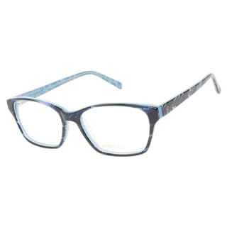 Evergreen 6015 Black Blue Prescription Eyeglasses