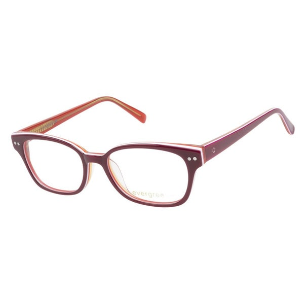 Evergreen 6013 Berry Stripe Prescription Eyeglasses
