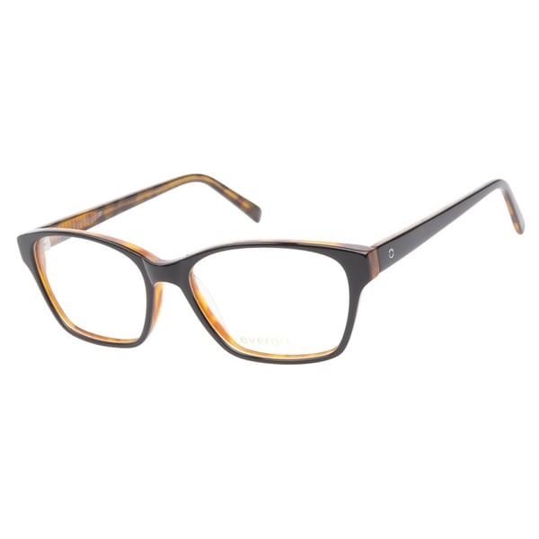 Evergreen 6015 Black Tortoise Prescription Eyeglasses