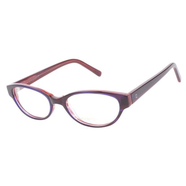 Evergreen 6017 Purple Red Prescription Eyeglasses