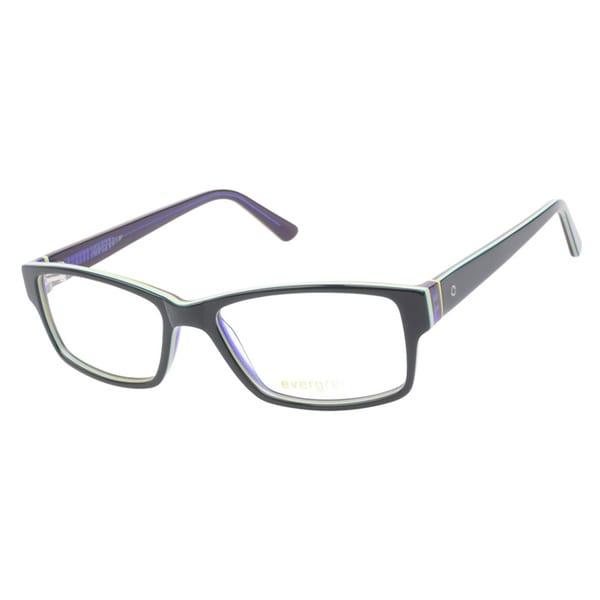 Evergreen 6019 Dark Green Stripe Prescription Eyeglasses