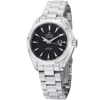 Omega Women's 231.10.34.20.01.001 'AquaTerra' Black Dial Stainless Steel Automatic Watch