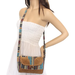 Gheri Small Leather Cross Body Bag (Nepal)