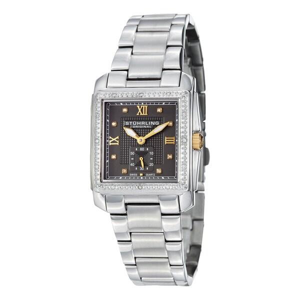Stuhrling Original Women's Lady Regency Square Swiss Quartz (Ronda 1064) Bracelet Watch