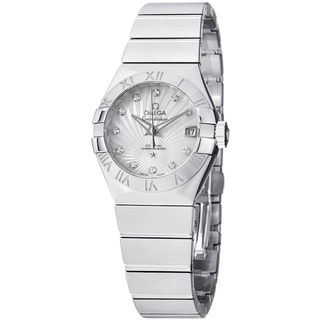 Omega Women's 123.10.27.20.55.001 'ConstellationCC' Mother of Pearl Diamond Dial Watch