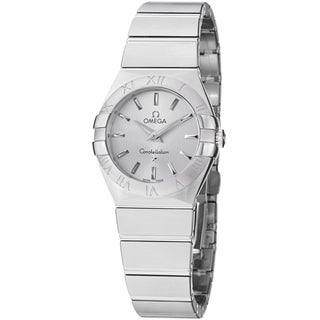 Omega Women's 123.10.27.60.02.001 'Constellation' Silver Dial Stainless Steel Quartz Watch