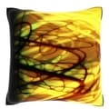Bright Exploding Background 18-inch Velour Throw Pillow