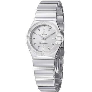 Omega Women's 123.10.27.60.02.002 'Constellation' Stainless Steel Bracelet Quartz Watch