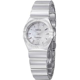 Omega Women's 123.10.27.60.05.002 'ConstellationCC' Mother of Pearl Dial Bracelet Watch