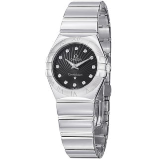 Omega Women's 123.10.27.60.51.002 'Constellation' Black Diamond Dial Stainless Steel Watch